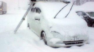 雪中ルーフテント