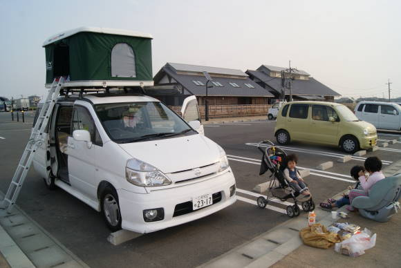 道の駅で車中泊