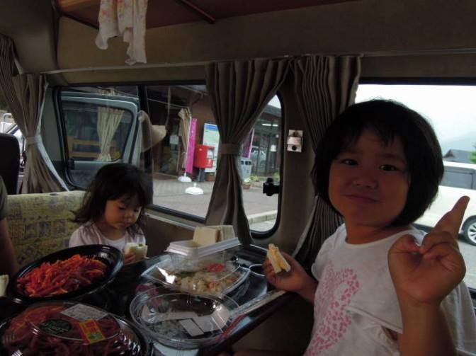 車中泊の朝食