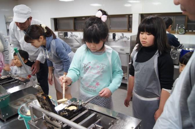 紅葉饅頭作り