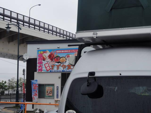 函館にて車中泊
