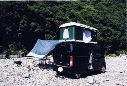 エブリィワゴンでオートキャンプ