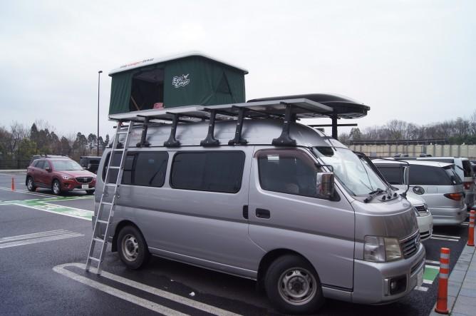 大津SAで車中泊