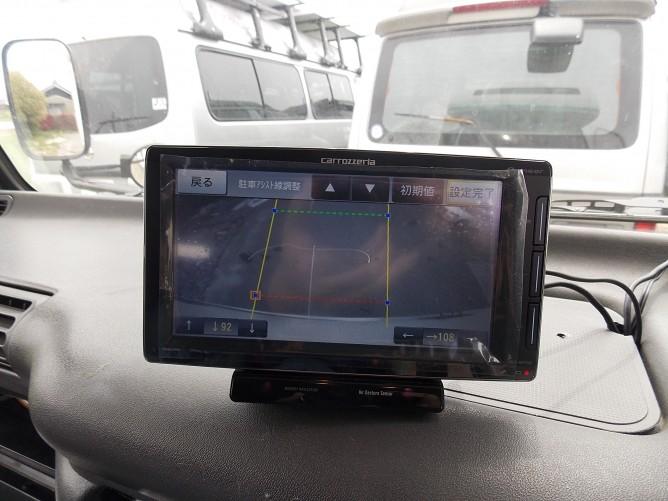 レンタルキャンピングカーのバックカメラの設定